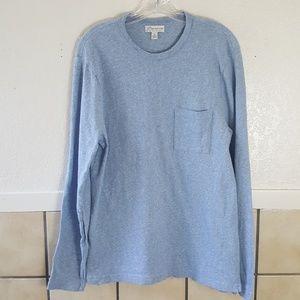 J. Crew Knit goods men's blue long sleeve top
